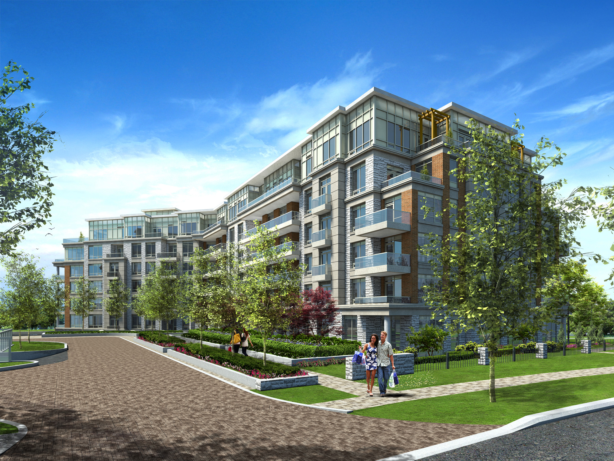 Mid Rise Apartmnet Toronto Architectural Rendering | Aareas Interactive