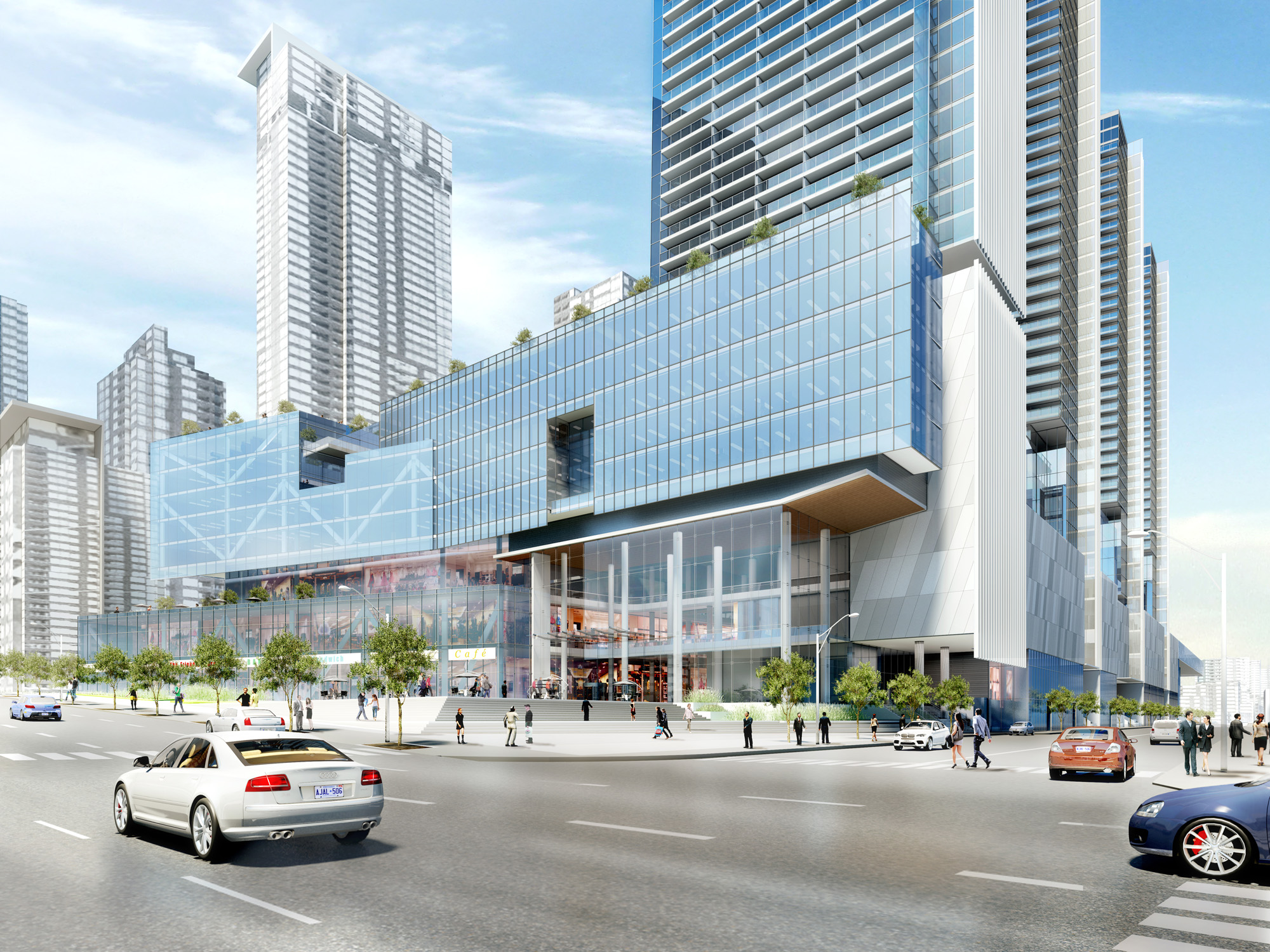 Front Street and Spadina Toronto High Rise Architectural 3D Rendering | Aareas Interactive
