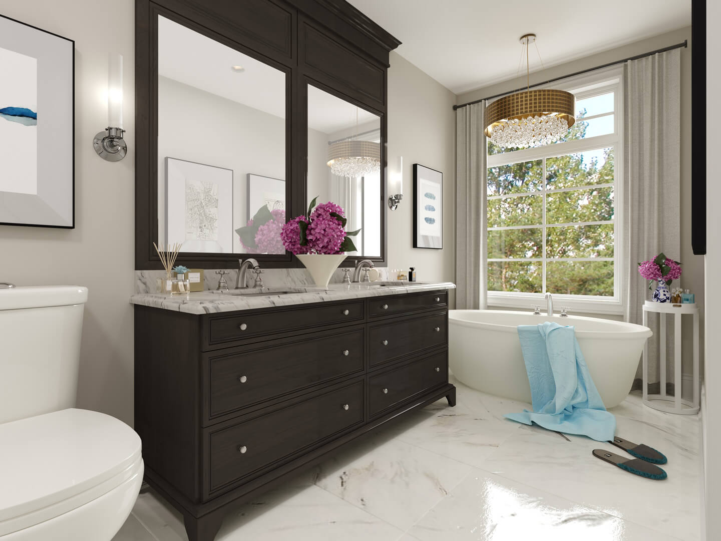 Virtually Staged Master Ensuite